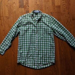 Gap Boys  XL gingham long sleeve button down shirt